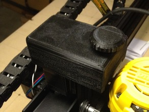 X-Carve Z axis Belt Cover and Knob