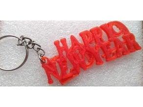 Happy New Year 2019 Keychain