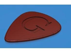 """Guitar Pick """"G"""" Engraving"""