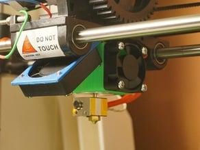 ROBO3D fan mount mod for E3D V5 hotend nozzle
