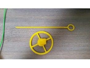 Fidget spinner top