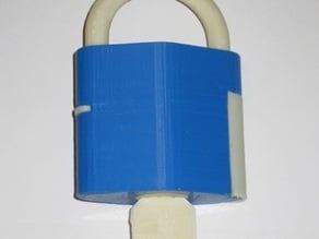 Functional Pin Tumbler Padlock Model