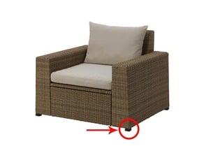 IKEA SOLLERON CHAIR - REPLACEMENT LEG // PIED DE REMPLACEMENT POUR FAUTEUIL IKEA SOLLERON