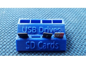 Mini USB Flash Drive and SD Card Holder