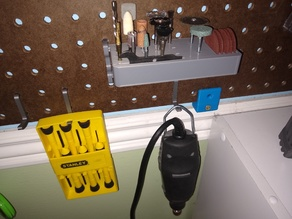 Pegboard Dremel Bit Holder