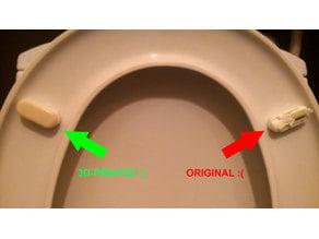 Toilet seat cover feet