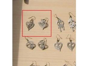 Capricorn Heart Earring