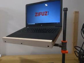 3D Printed Bushing & Pipe Collar for DIY Laptop Stand