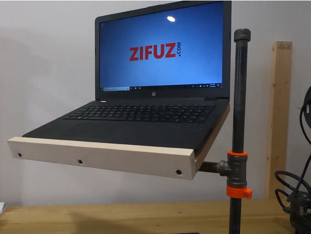 3D Printed Bushing & Pipe Collar for DIY Laptop Stand by