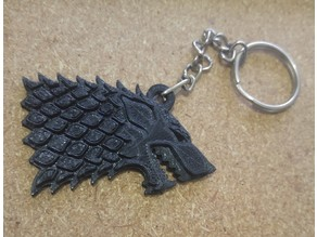 Game of Thrones Wolf Stark Key