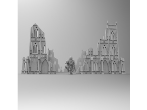 Gothic Basilica Warhammer Ruins and Terrain 28mm
