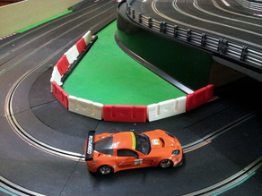 1/32 scale road barrier hollow for slot car tracks