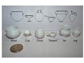 1/10 scale Cretan Pottery