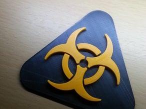 Biohazard door sign