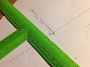 Right Angle T Ruler (6 inches)