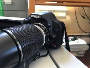 Nikon F mount to Canon EF mount