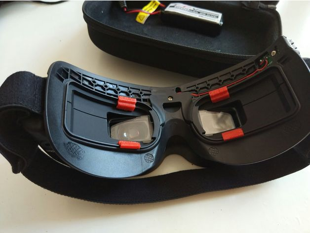 Skyzone v1/v2 FPV Goggle faceplate mod - Simple way for