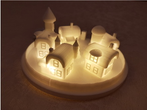 Christmas elf town lamp