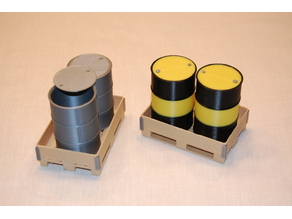 Oil barrel 208 L with lid