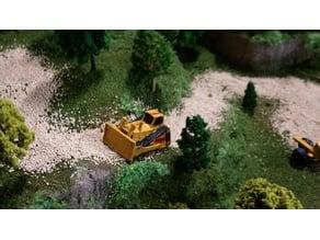 N scale bulldozer