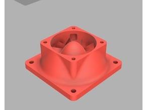 Aerodynamic 60mm fan to 40mm mount adapter (helpful when used with fan duct)
