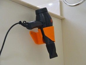 Hair Dryer Holster (Holder) with slot and wide set screws