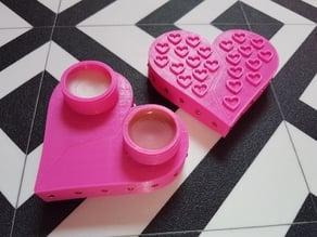 Princess Broken Heart Duo Lip Balm Container