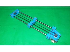 058-Homemade Router Mill CNC Laser Plotter 3D Printer Machine DIY X Axis Slide Linear Bed Base Frame