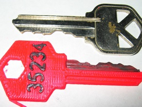 Customizable House / Padlock Key