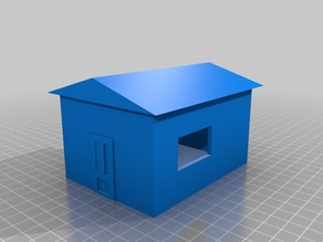 A very lazy looking shed.