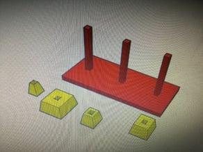 Pyramid puzzle game