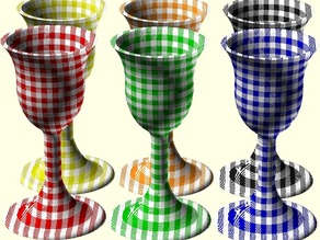 Checked Gingham 2 Part Picnic Parisian Goblet