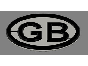 GB car sign