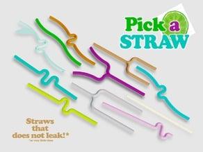 Pick a Straw - It's apero time! - zero leaking*