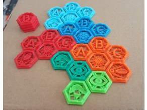 X Wing 3D Stackable Tokens