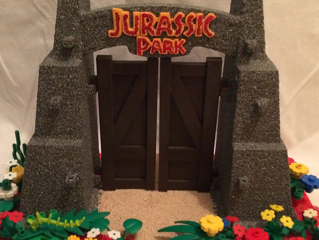 Jurassic Park Gate With Lego 174 Base By Thirdearthdesign