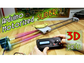Motorized Camera slider 3D printed