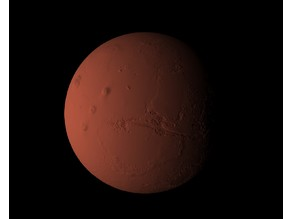 Mars accentuated relief
