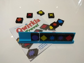 Qwirkle token holder matches 6 tokens (Travel Edition)