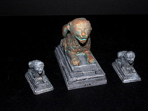 OpenForge 2.0 Lion Statues