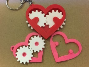 Heart Gear Keychain