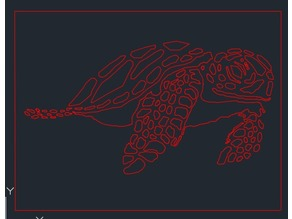 Sea Turtle Laser Cut