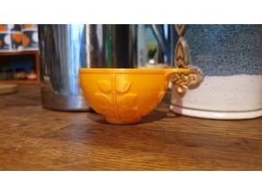 Orla Kiely inspired coffee scoop