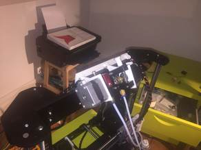 Anet A8 adjustable extruder mount on LCD