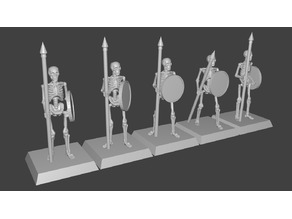 Skeleton Spearmen Miniatures