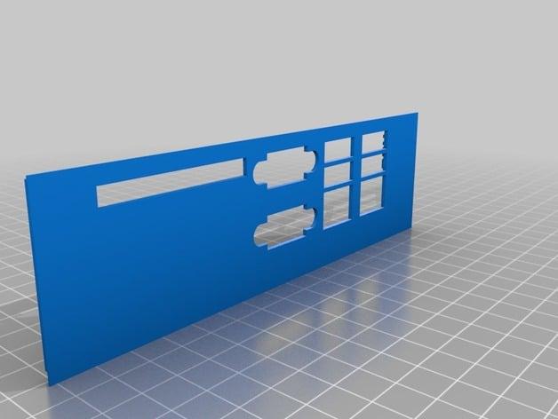 Xyratex 0944037-03 Motherboard IO Shield by hotrodman106 - Thingiverse