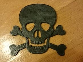 Skull and crossbones logo