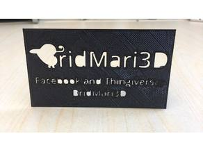 BridMari3D business card