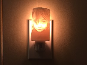 Lithophane Night Light adapter (remix)