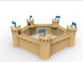 modular medieval castle sand